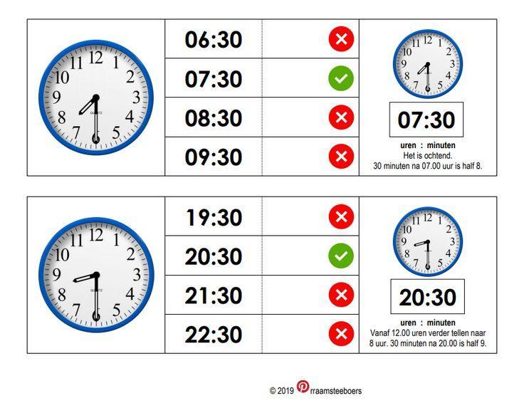 Wiskunde Werkbladen Tijd 2
