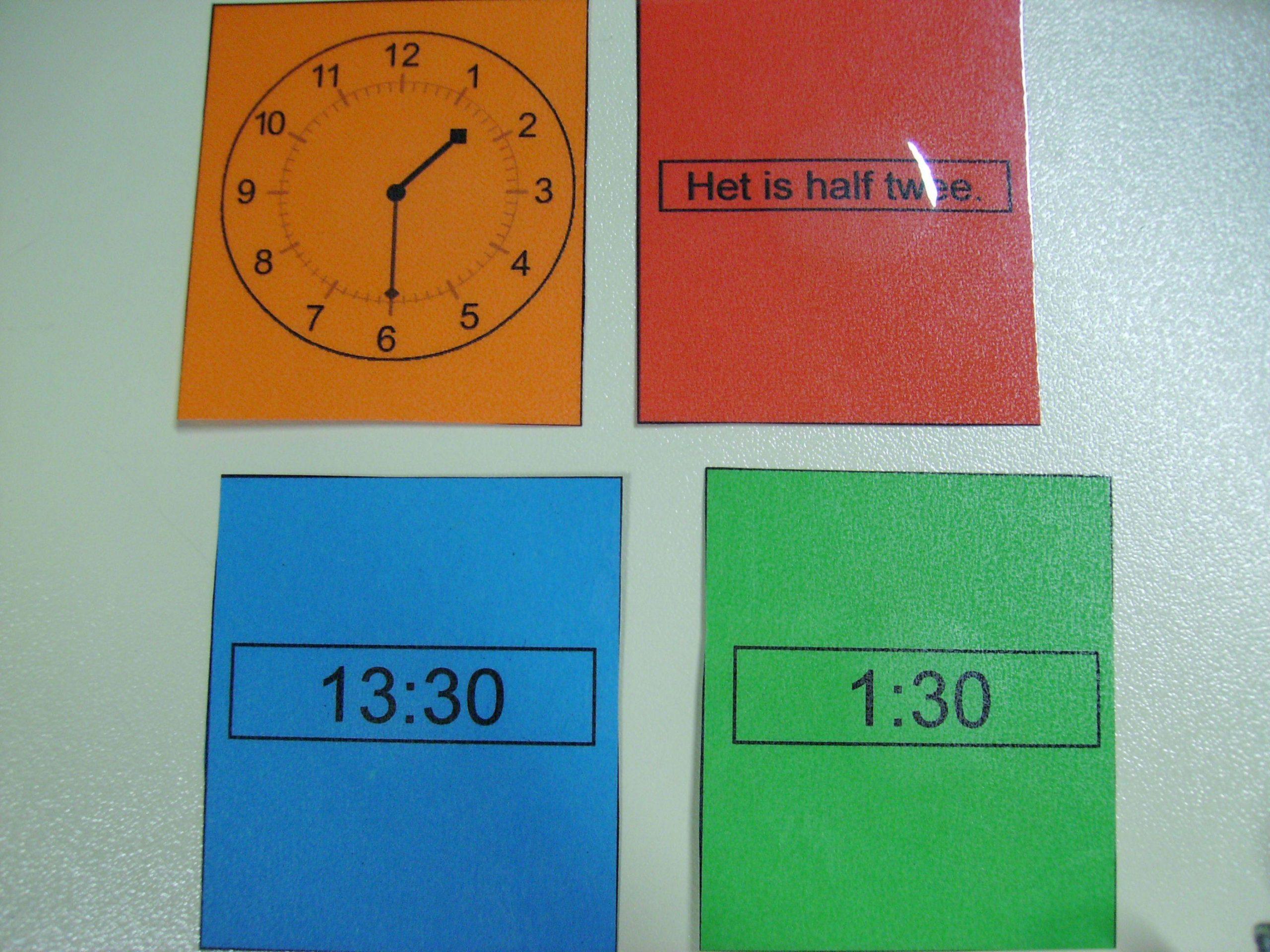 Wiskunde Werkbladen Tijd 4
