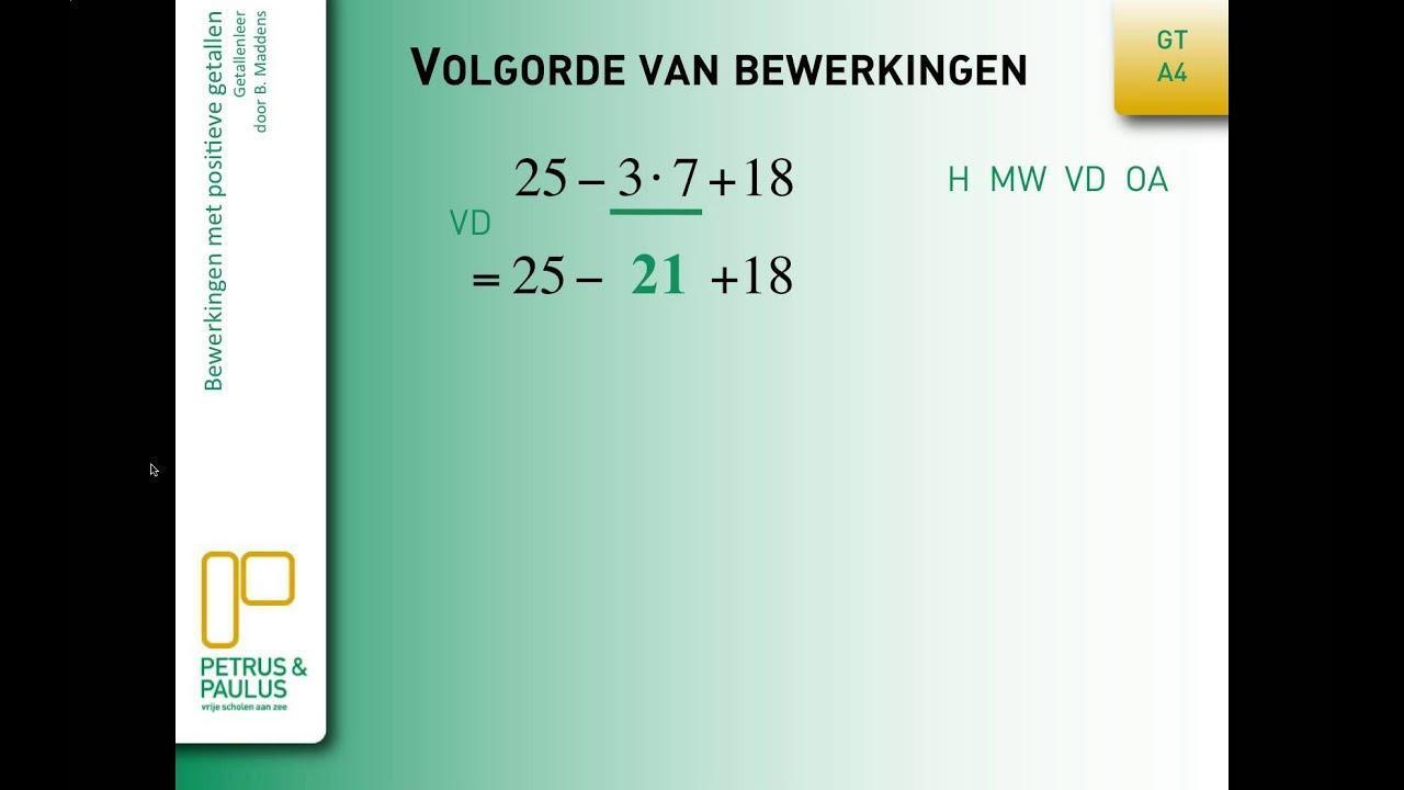 Wiskunde Werkbladen Volgorde Van Bewerkingen 1