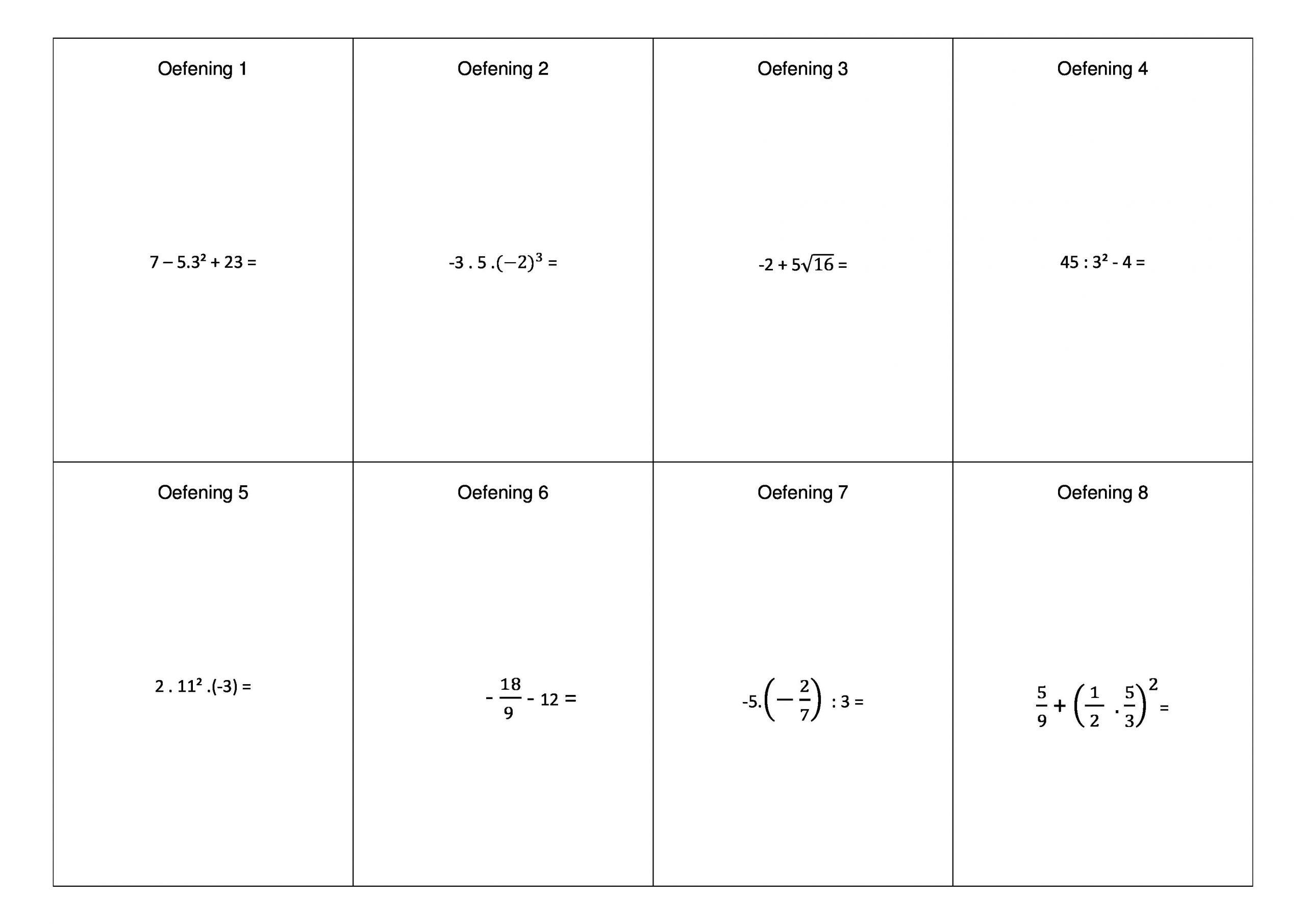 Wiskunde Werkbladen Volgorde Van Bewerkingen 6