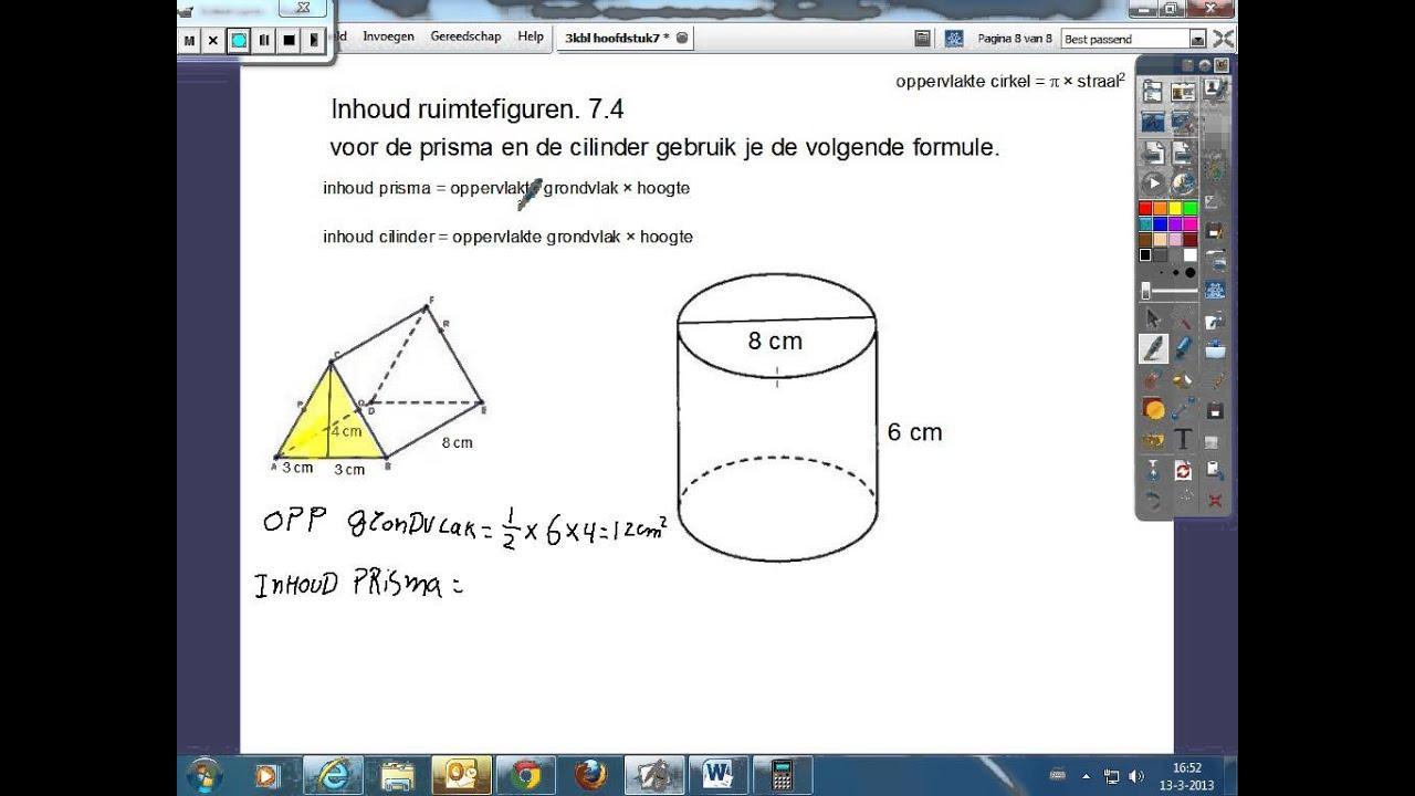 Wiskunde Werkbladen Volume Van Driehoekig Prisma 1