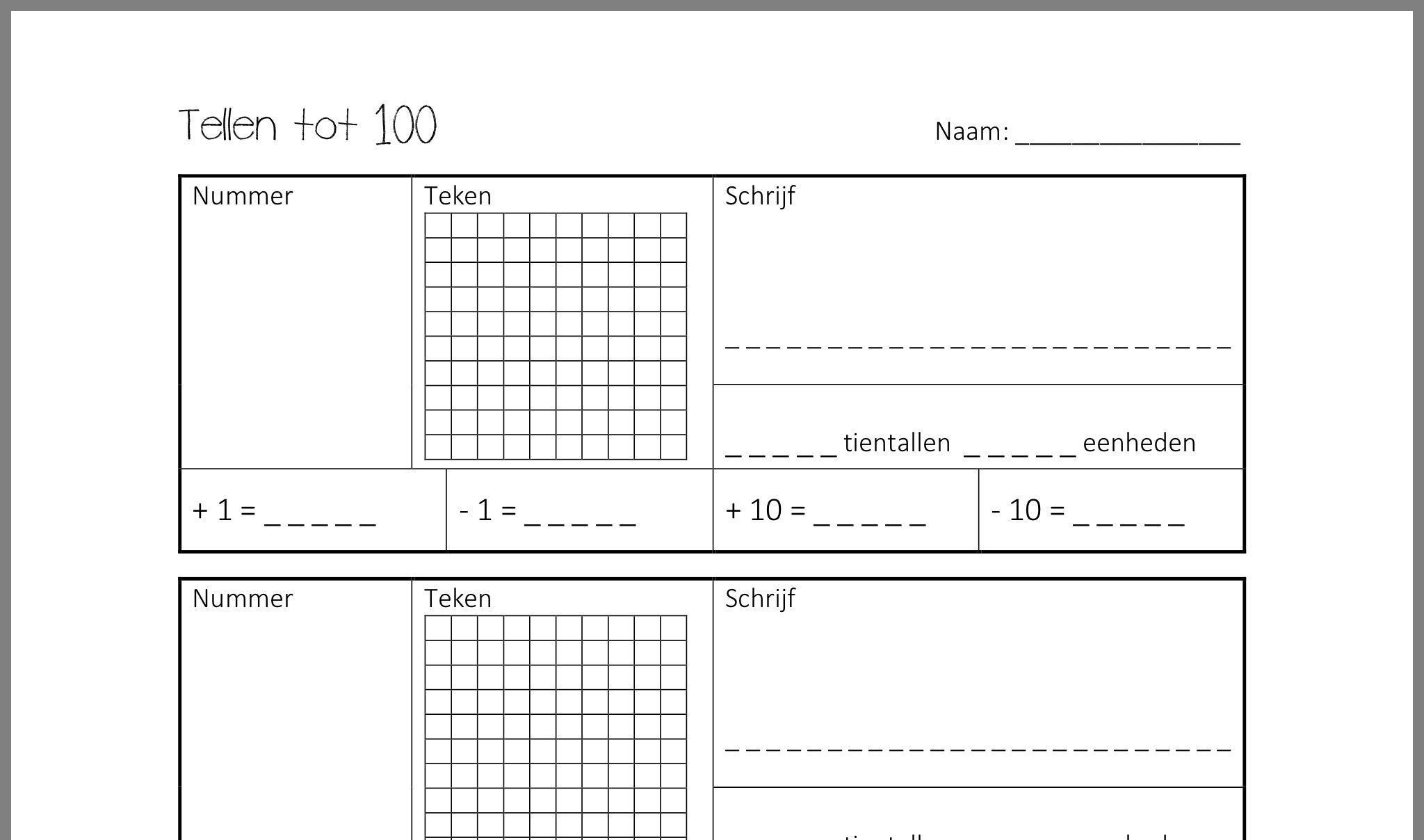 Zearn Wiskunde-werkbladen 1