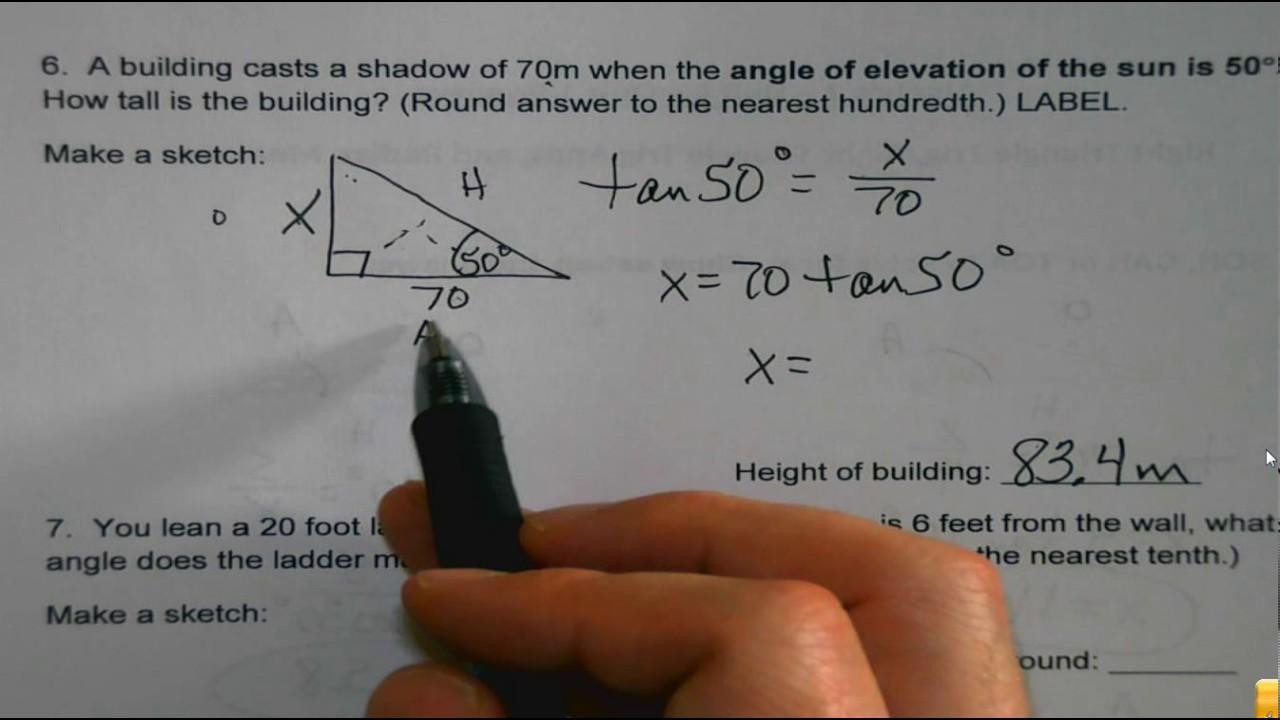 Algebra Ii-werkbladen 11