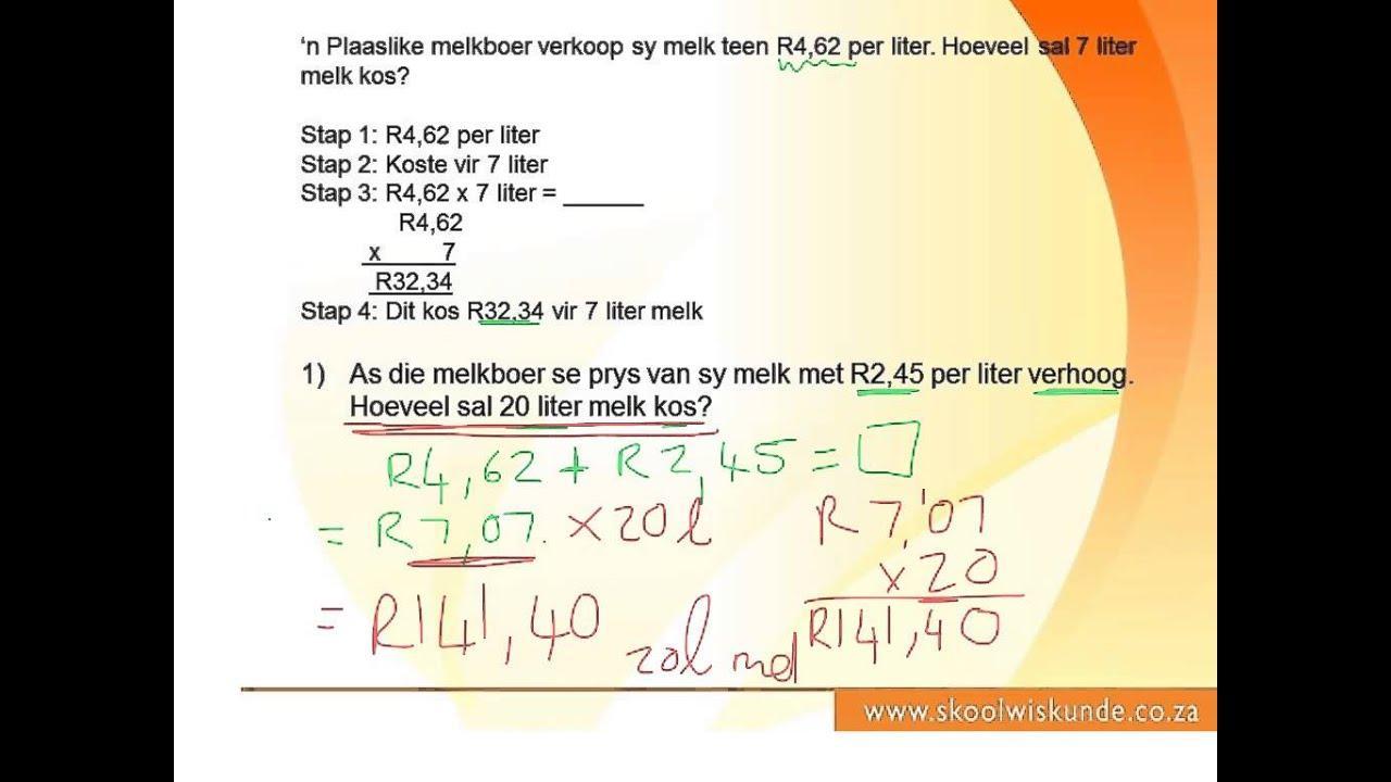 Algebra Vergelijkingen Werkbladen Graad 7 4