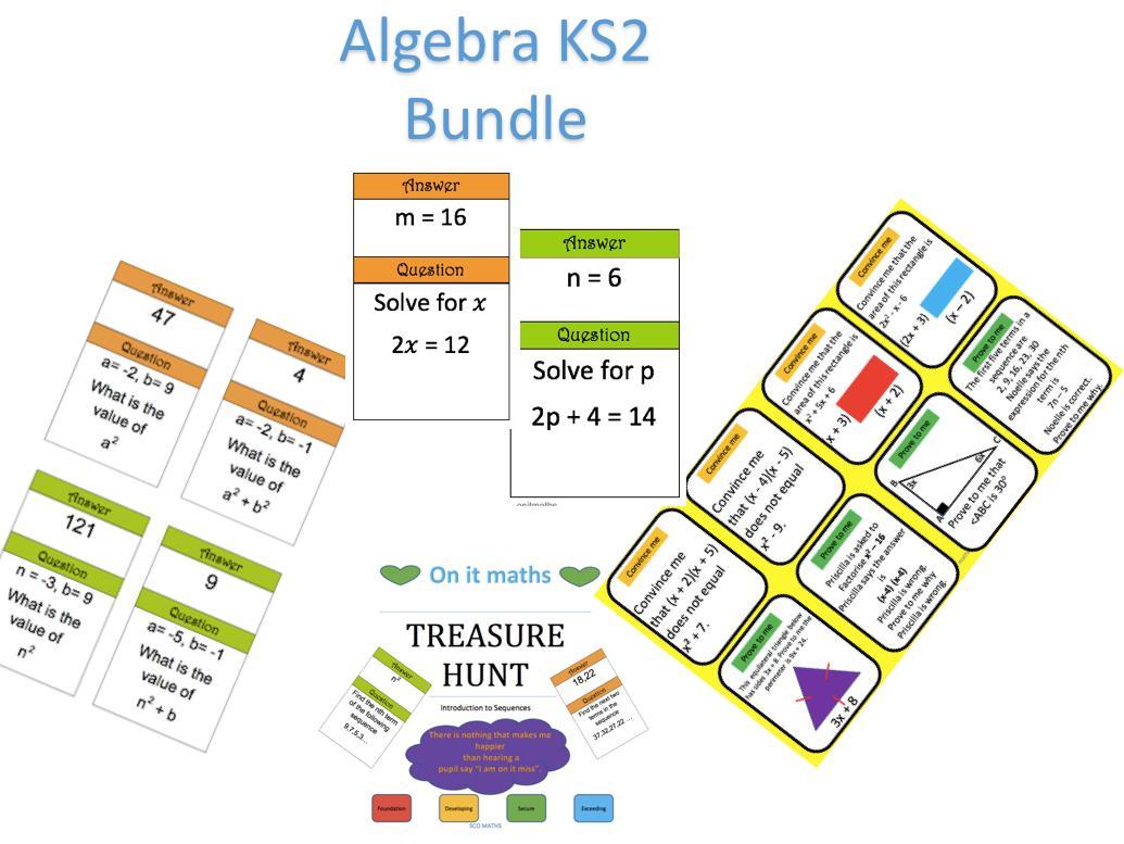 Algebra-werkbladen Ks2 3
