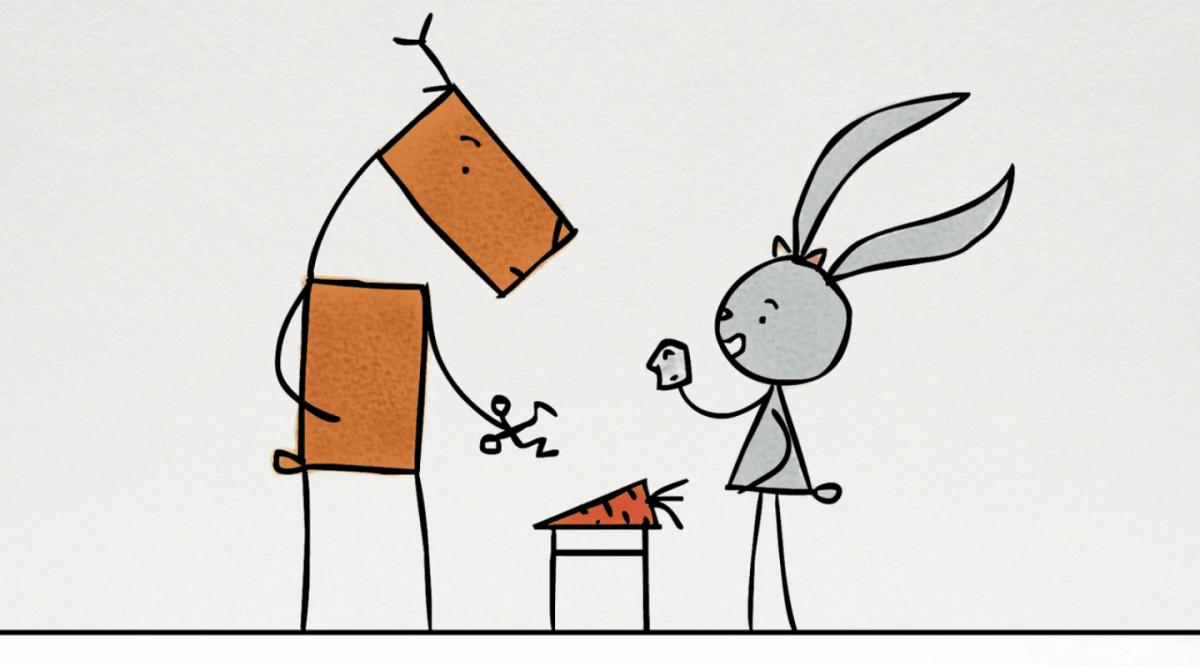 Kurzfilm zum Wochenende: Kaninchen und Hirsch (2013)