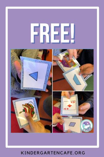 Free 2D shape matching cards!