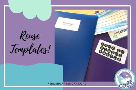 Welcome to back to school is easy when using the same templates from year to year!