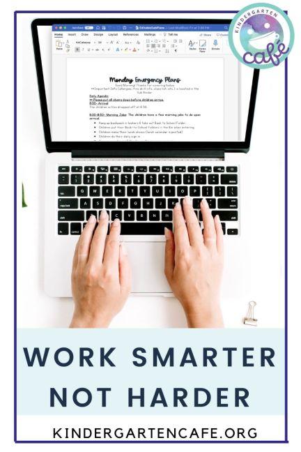 lesson plans for substitute - work smarter not harder!