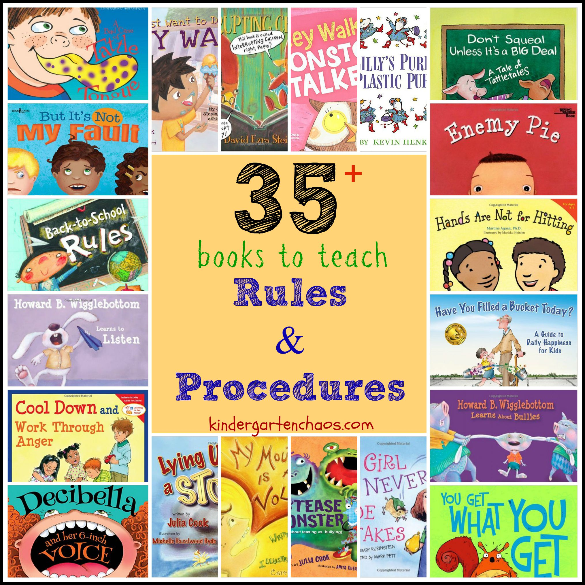Books To Help Teach Classroom Rules And Procedures