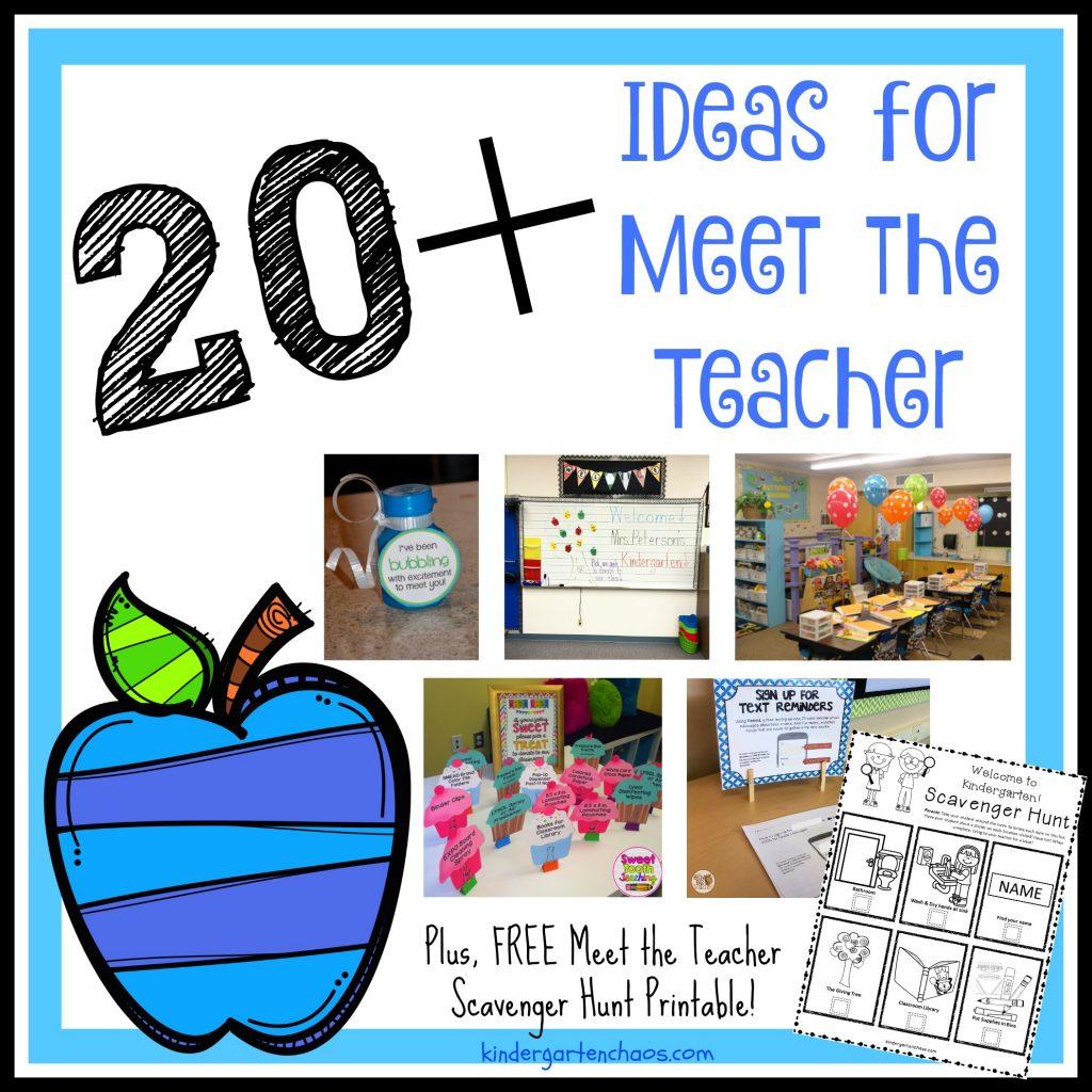20 Fantastic Amp Easy Ideas For Meet The Teacher Night
