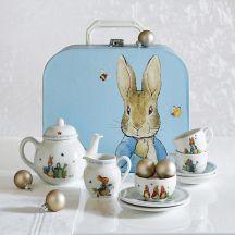 easter tea set seven