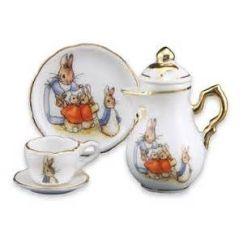 easter tea set three