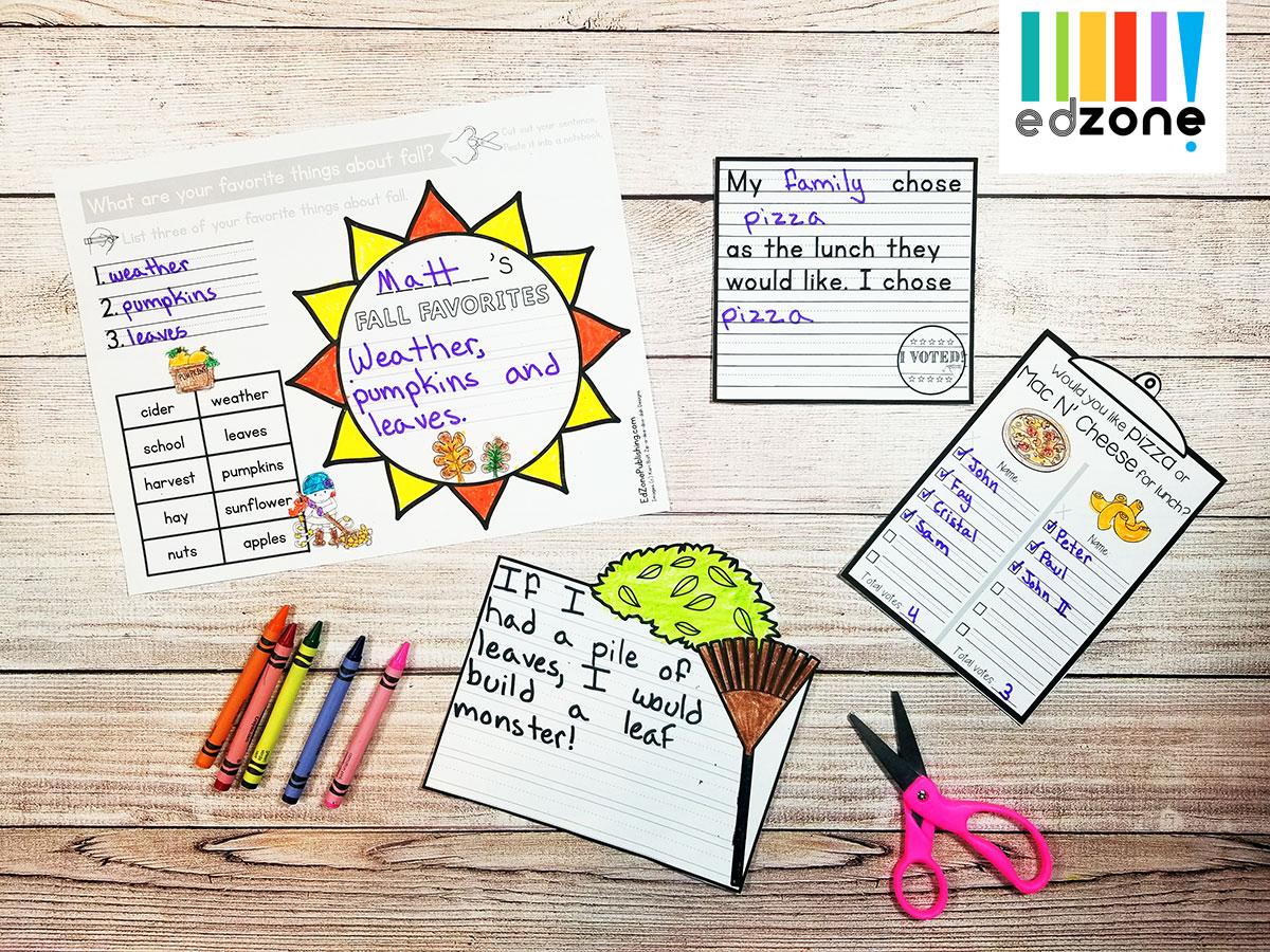 Novemberkindergartenwritingprompts