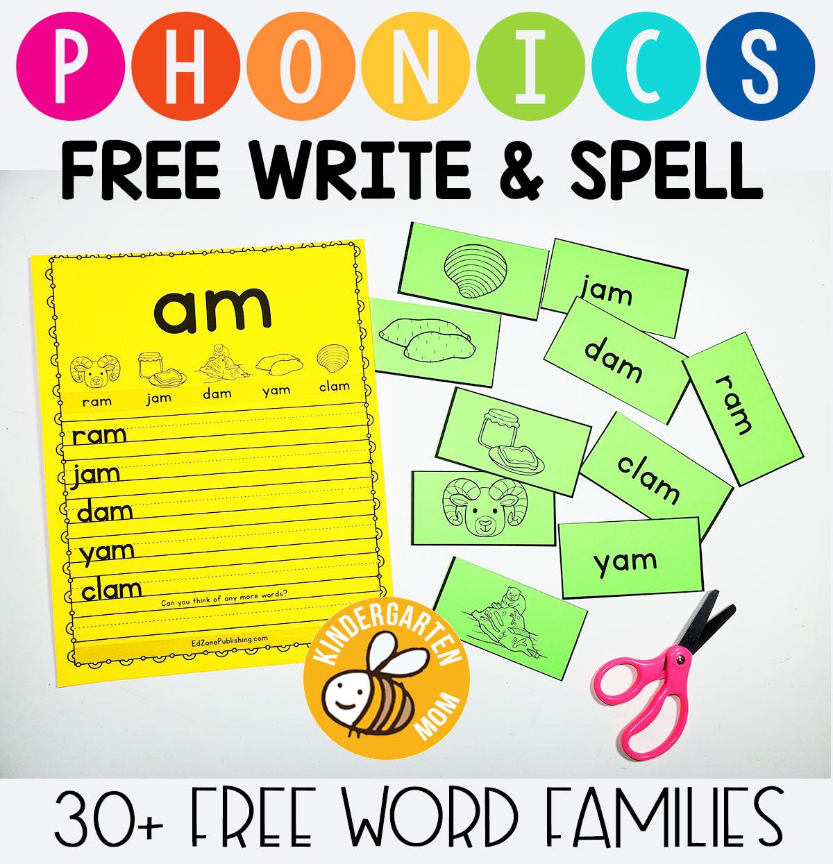Wordfamilyprintables