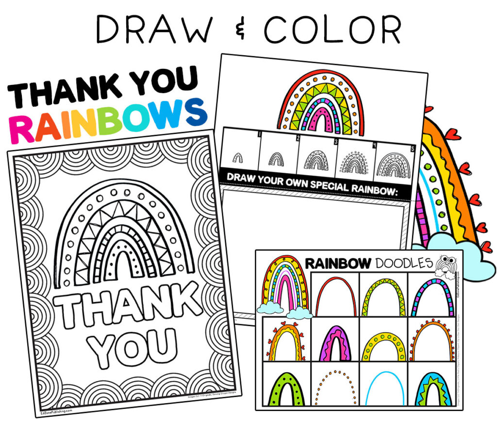 Thank You Rainbow Activities For Kids