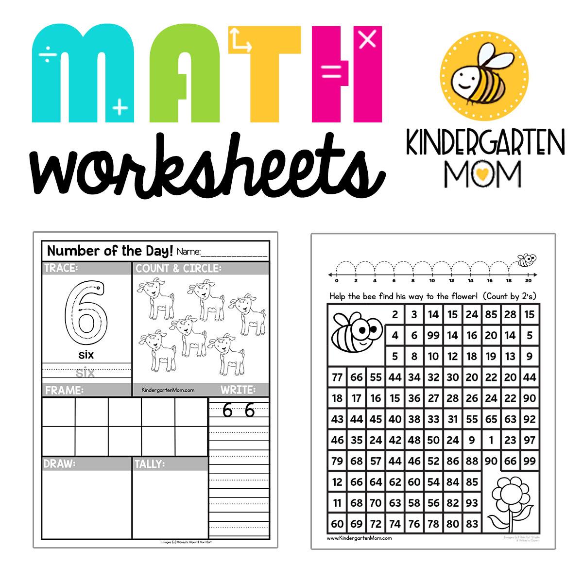 Kindergartenmathworksheets