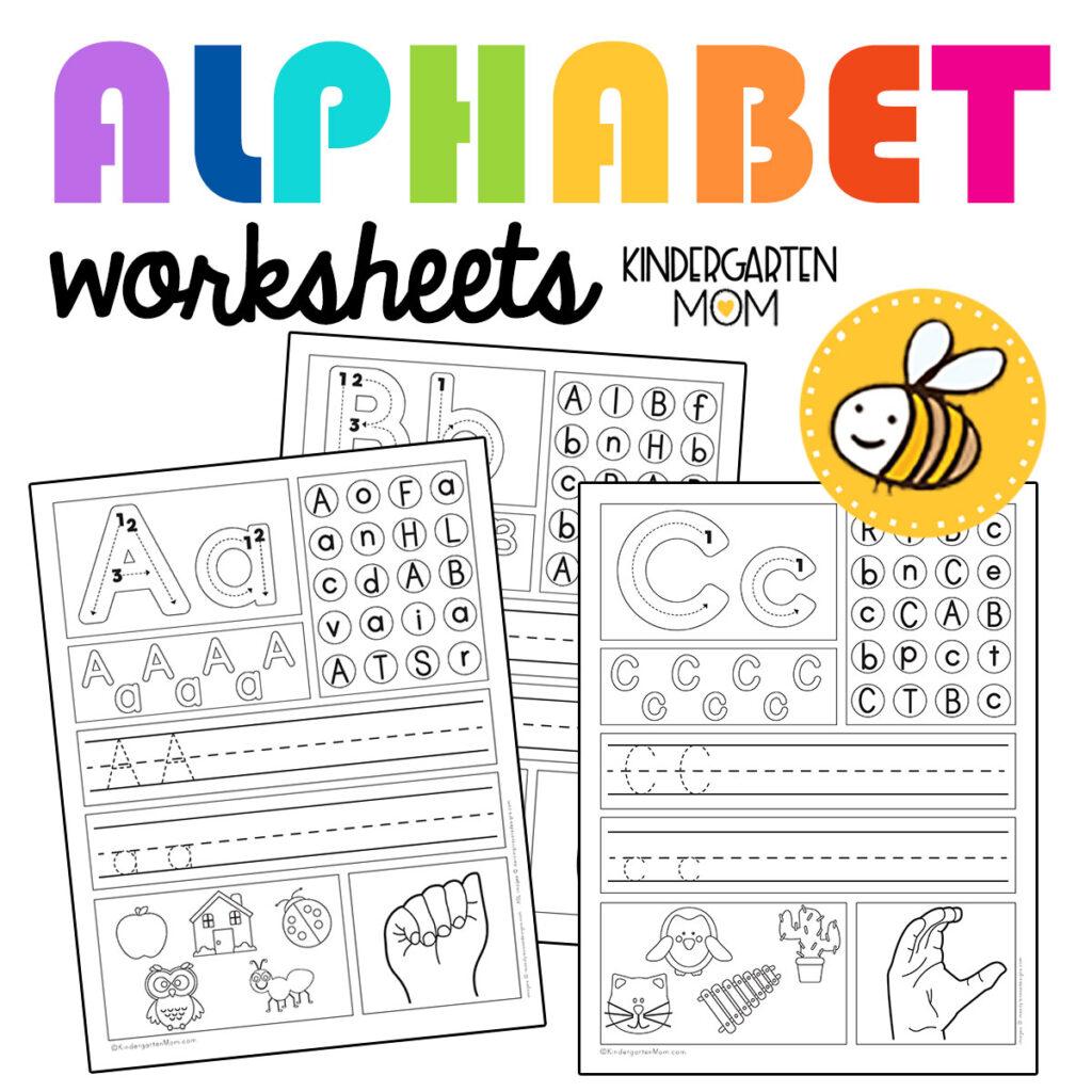 Kindergarten Alphabet Printables
