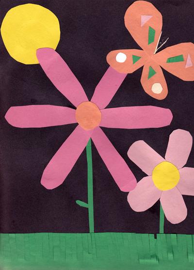 Construction Paper Flowers Kindergarten Nation