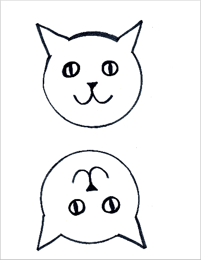 image regarding There Was an Old Lady Printable Template called Cat Puppet Craft ~ A Absolutely free Printable Template Kindergarten