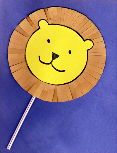 A Lion Puppet Craft - Based on the book, Dandelion by Don Freeman