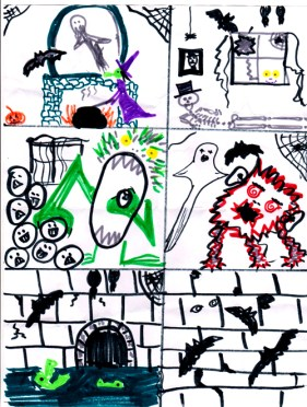 Make a Spooky Haunted House Drawing
