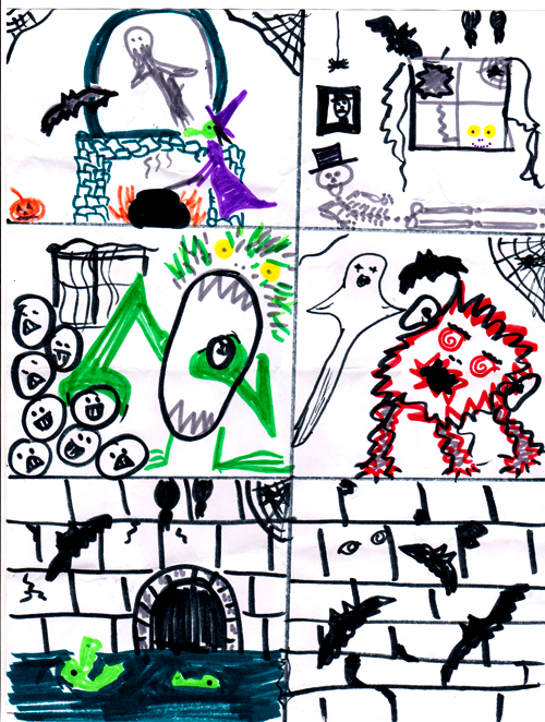 Halloween Spooky House Drawing.Make A Spooky Haunted House Drawing Kindergarten Nation