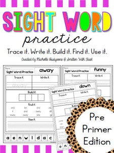 sight word practice activity