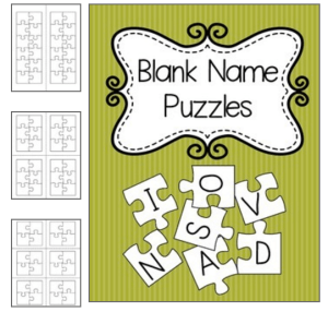 Blank Name Puzzle Templates