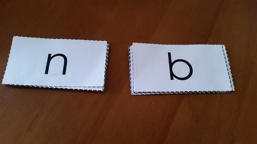 Alphabet Flash Cards with no pictures