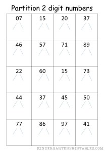 Partition 2 Digit Numbers 2