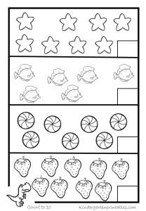 Counting worksheets 1-20 free printable workbook