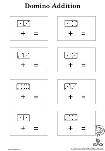 Domino Addition Worksheet Printable free