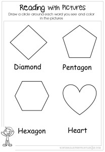 shape word worksheets