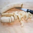 Banane schneiden