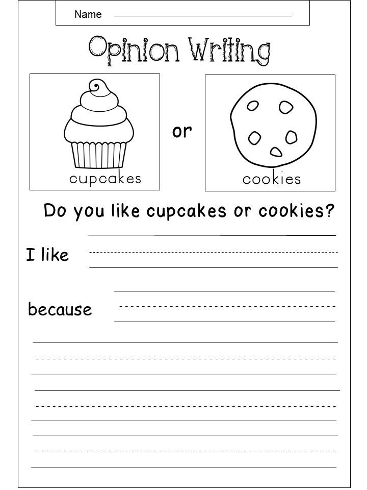 Free Opinion Writing Printable - Kindermomma.com