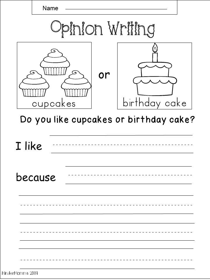 Free Kindergarten Writing Worksheets - kindermomma.com