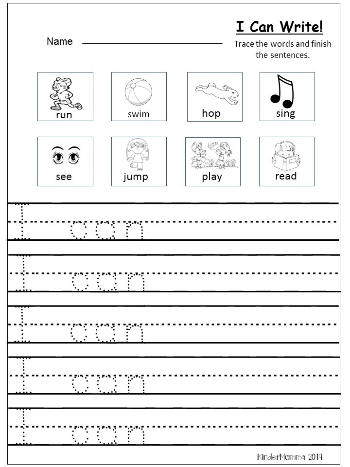 Free Writing Printable Kindergarten and First Grade ...