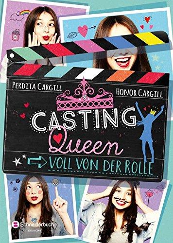 Ein Filmklappe mit dem Titel, umgeben von vier Fotos der Protagonistin. in
