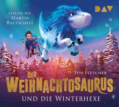 """Cover """"Der Weihnachtosaurus und die Winterhexe"""" Hörbuch-Rezension"""