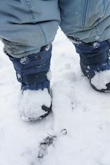 Der hält warm und dicht: Kamik Icepop2, allerdings könnte der Halt in der Ferse besser sein.  Foto (c) kinderoutdoor.de