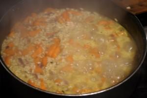 Kinderrezept Risotto alla carota für die Outdoorküche.  foto (c) kinderoutdoor.de