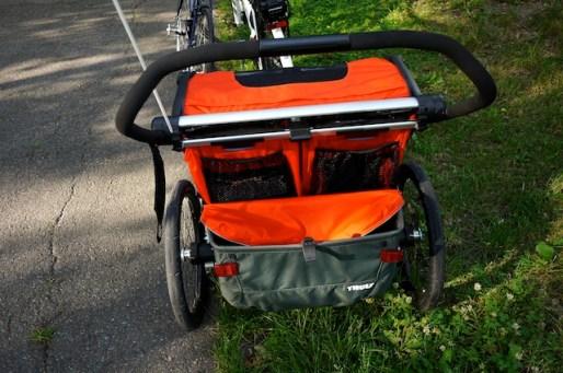 Solide verarbeitet präsentiert sich der Thule Chariot Cross 2. foto (c) kinderoutdoor.de