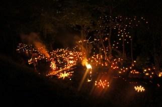 Nur an einem Abend gibt es die Tonbachtal Beleuchtung Baiersbronn. foto (c) kinderoutdoor.de