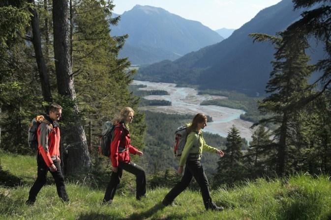 Der Lechzopf vom Baichstein zeigt, wie wild und naturbelassen der Lech ist. So soll es auch bleiben. foto (c) verein werbegemeinschaft lech wege