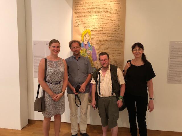 Saskia Dahmer, Klaus Mecherlein, Clemens Wild und Gitta Gritzmann während der euward7 Ausstellung im Buchheim Museum