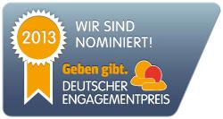 Nominierung Deutscher Engagementpreis 2013