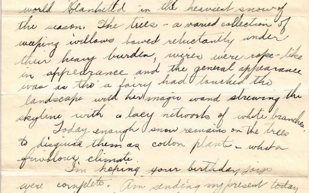 Dorothy to Ellsworth, 25 January 1934