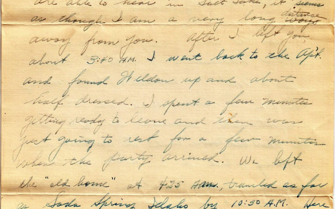 Ellsworth to Dorothy, 9 June 1932