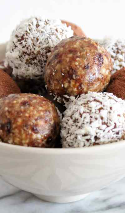 Energy Balls Cranberries Agrumes